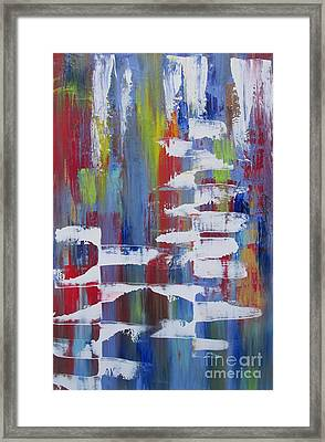 Framed Print featuring the painting Vantage Point by Nereida Rodriguez
