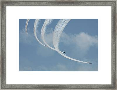 Vapor Trails In The Empty Air Framed Print