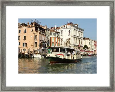 Vaporetto  Framed Print