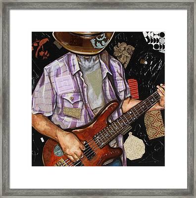 Vaquero De The Bass Guitar Framed Print