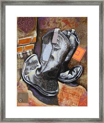 Vaquero De The Boots Framed Print