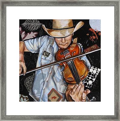 Vaquero De The Fiddle Framed Print