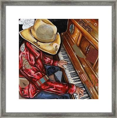 Vaquero De The Piano Framed Print