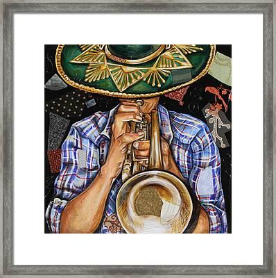 Vaquero De The Trumpet Framed Print