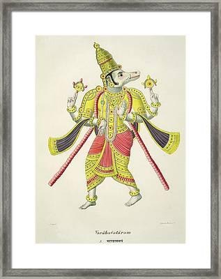 Varaha, Engraved By De Marlet Framed Print