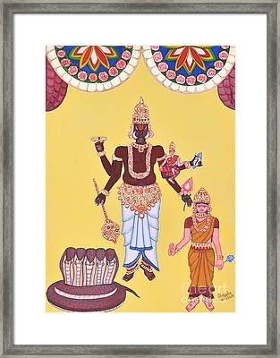 Varahamurti Framed Print by Pratyasha Nithin