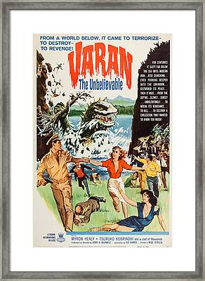 Varan The Unbelievable, Us Poster Art Framed Print