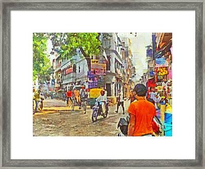 Varanasi Intersection Framed Print