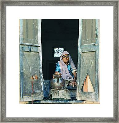 Varanasi Water Seller Framed Print