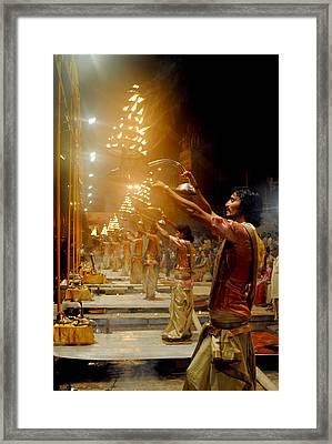 Varanasi's Ganga Aarti Framed Print