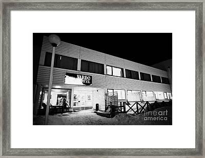 Vardo Hotel In Winter At Night Finnmark Norway Europe Framed Print