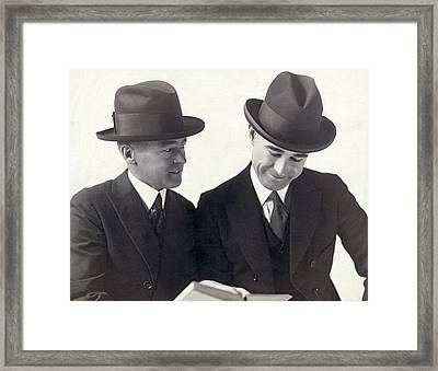Vardon And Perry Entertainers Framed Print