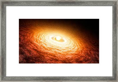 Variable Star Fu Orionis 2004 Framed Print by Science Source