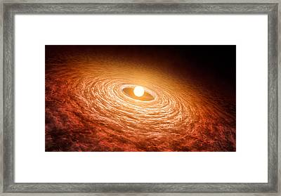 Variable Star Fu Orionis 2016 Framed Print by Science Source
