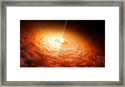Variable Star Fu Orionis Framed Print by Science Source