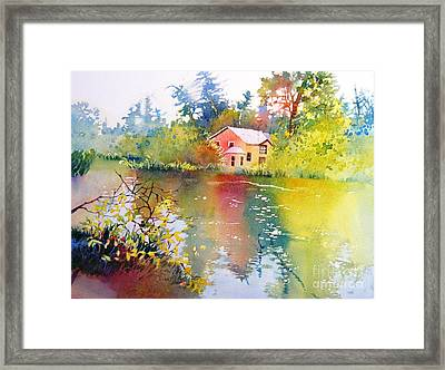 Variations Of Lake Scene Framed Print
