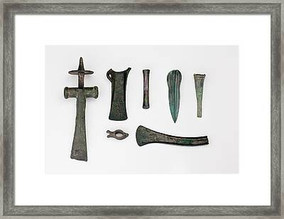 Variety Among Bronze Age Tools Framed Print by Paul D Stewart