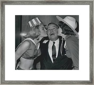 Variety Club Lunch Tribute To Billy Butlin Framed Print by Retro Images Archive