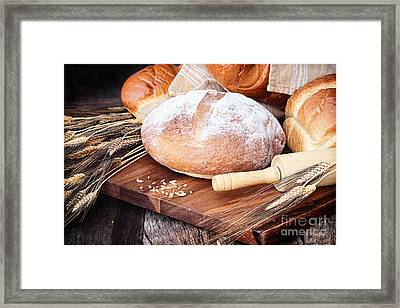 Variety Of Breads Framed Print