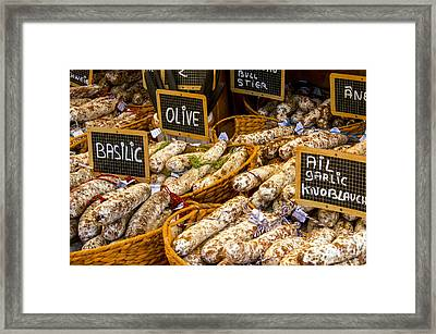 Variety Of Flavors Framed Print by Bob Phillips