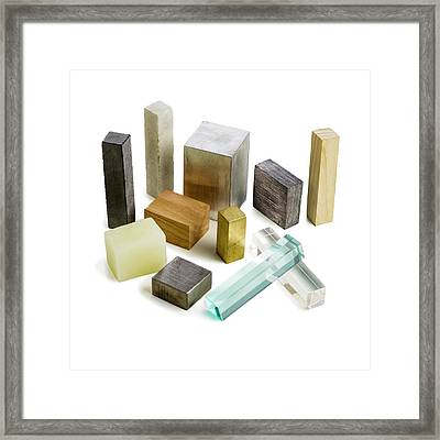 Variety Of Solid Materials Framed Print by Science Photo Library