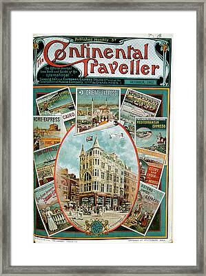 Various Adverts Framed Print