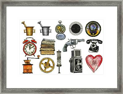 Various Object - Signs - Icons Framed Print by Michal Boubin