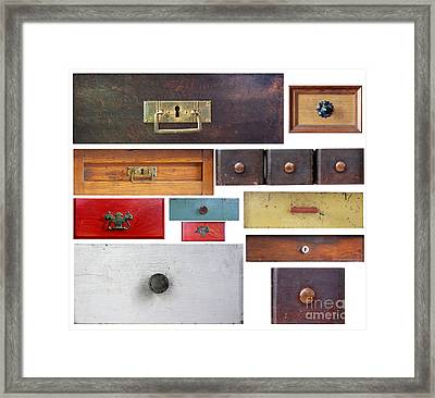 Various Old Drawers Framed Print by Michal Boubin