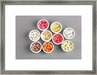 Various Pills Framed Print by Wladimir Bulgar