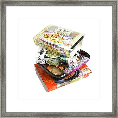 Various Ready Meals Framed Print by Science Photo Library