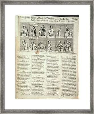 Various Sects Framed Print by British Library