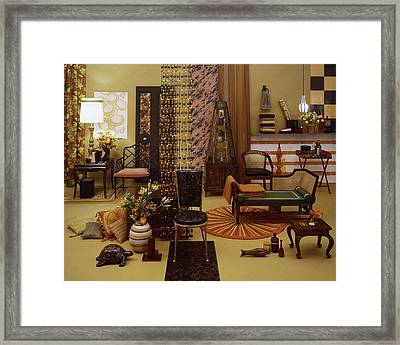 Various Tortoise Shell Furniture And Accessories Framed Print by Tom Yee