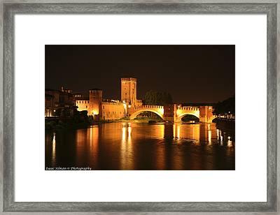 Varona Castel Vecchio Italy Framed Print by Isaac Silman