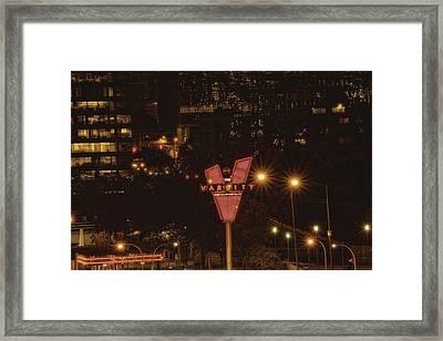 Varsity Sparkles Framed Print by Lisa Marie Pane