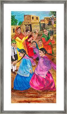 Vasakhi In A Punjab Village Framed Print