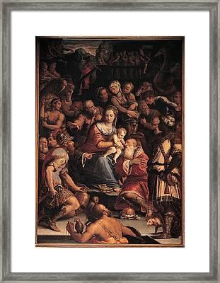 Vasari Giorgio, Adoration Of The Magi Framed Print by Everett