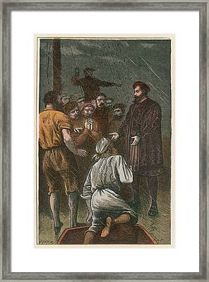 Vasco Da Gama On His Way To The East Framed Print by Mary Evans Picture Library