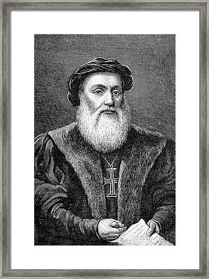 Vasco De Gama Framed Print by Bildagentur-online/tschanz