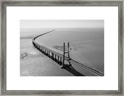 Vasco De Gama Bridge, Lisbon Framed Print