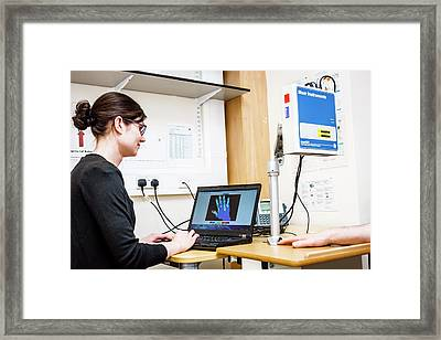 Vascular Examination Framed Print by Gustoimages