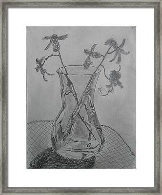 Vase Framed Print by AJ Brown