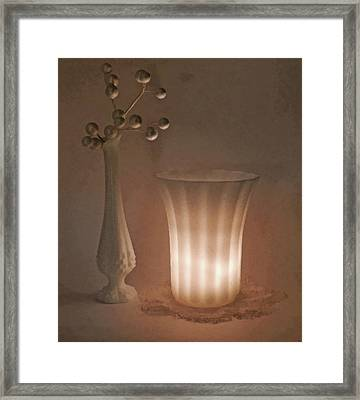 Vase And Bud Vase Framed Print