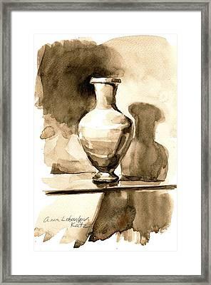 Vase Framed Print by Anna Lobovikov-Katz