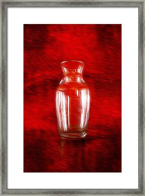 Framed Print featuring the photograph Vase En Rouge by Aaron Berg
