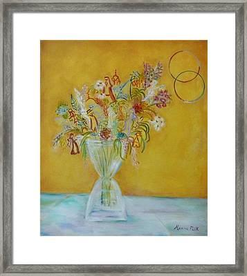 Vase Flowers Framed Print by Hanna Fluk