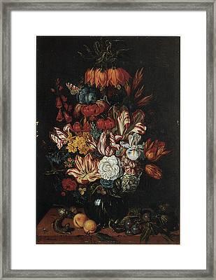 Vase Of Flowers Framed Print by Abraham Bosschaert