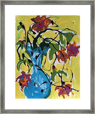 Vase Of Flowers Framed Print by Alison Caltrider