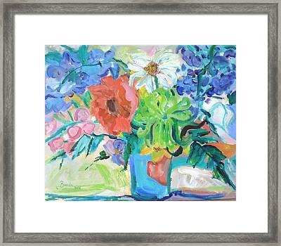 Vase Of Flowers Framed Print by Brenda Ruark