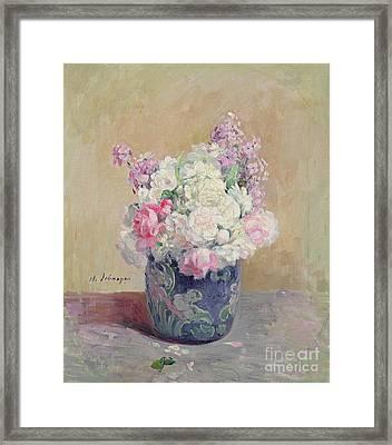 Vase Of Flowers Framed Print by Henri Lebasque