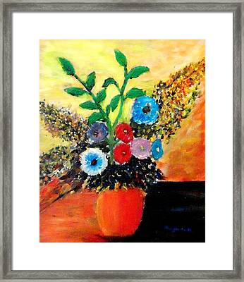 Vase Of Flowers Framed Print by Mauro Beniamino Muggianu